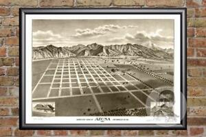 Vintage-Azusa-CA-Map-1887-Historic-California-Art-Old-Victorian-Industrial