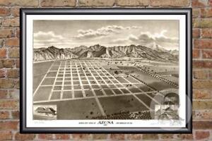 Vintage-Azusa-CA-Map-1887-Historic-California-Art-Old-Victorian-Industrial