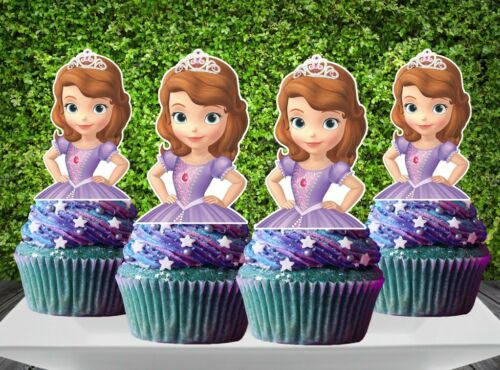 12pcs Princess Sofia the First Cupcake Topper
