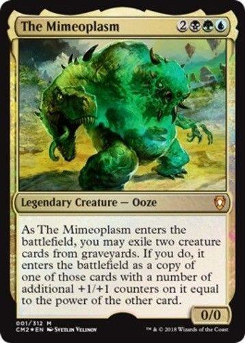 *FOIL* THE MIMEOPLASM NM mtg Commander Anthology II Gold Ooze Mythic