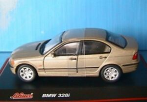 BMW-328I-E46-SALOON-GOLD-METALLIC-SCHUCO-1-43-GERMANY-OR-LEFT-HAND-DRIVE-SERIE-3