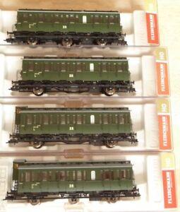 Fleischmann-507002-507052-507102-507152-H0-Set-4-Stueck-Abteilwagen-DR-Epoche3