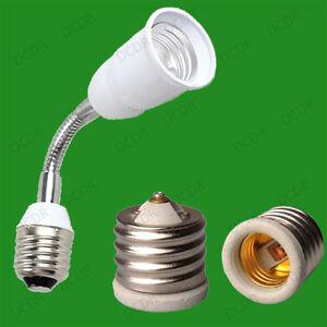 e40 to e27 adaptor or e27 e27 flexible extender light bulb socket use changer ebay. Black Bedroom Furniture Sets. Home Design Ideas