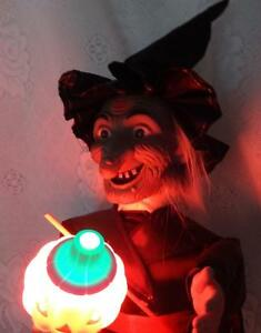 image is loading vintage renoc halloween motion animated spooky witch pumpkin - Animated Halloween Figures