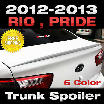 Fit Kia 2012 - 2015 RIO Sedan Pride Trunk Wing Rear Spoiler Tuning Painted