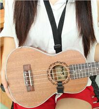Adjustable Ukulele Strap For Ukulele Guitar Mandolin Instrument Hook Black