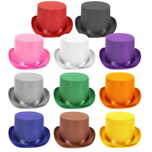 Choose-Color-Adult-Dress-Up-Party-Halloween-Costume-Head-Accessory-TOP-Hat