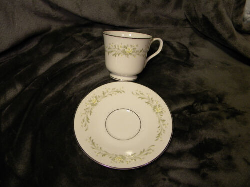Grace Fine China RHAPSODY Footed Cup and Saucer Beautiful,Excellent
