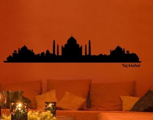Wandtattoo Skyline Taj Mahal Indien Mausoleum Mekka Silhouette Wohnzimmer bsm028