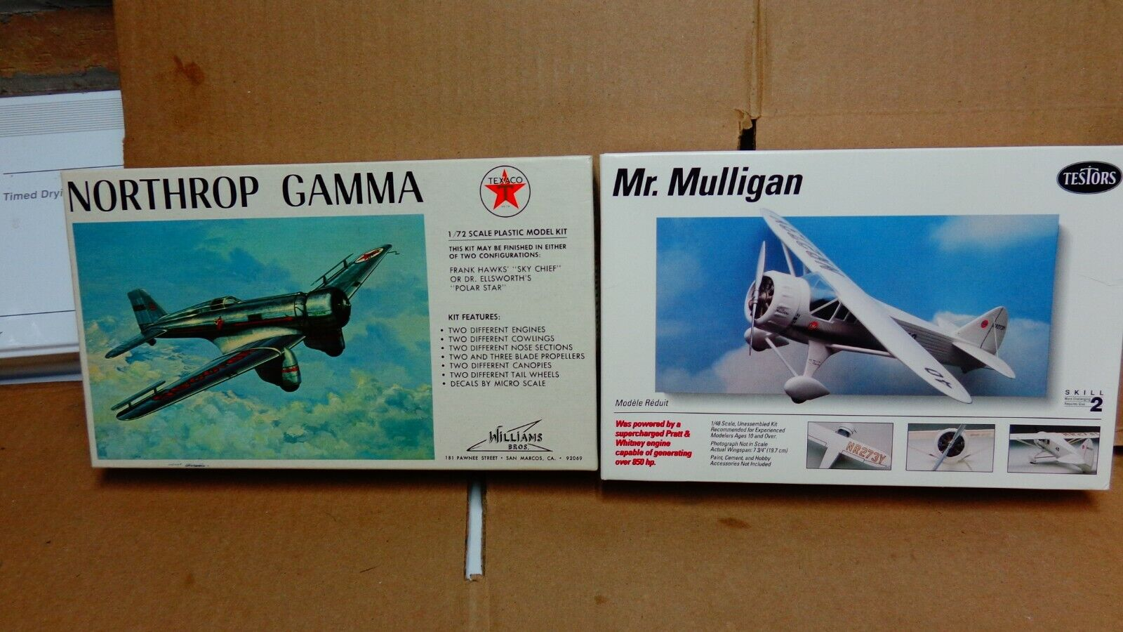 LOT OF 6 AIR PLANE MODELS ALL NEW DIFFERENT BRANDS AND SCALE