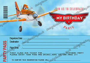 Disney Planes Birthday Party Invitations For Boys Planes Disney X 8