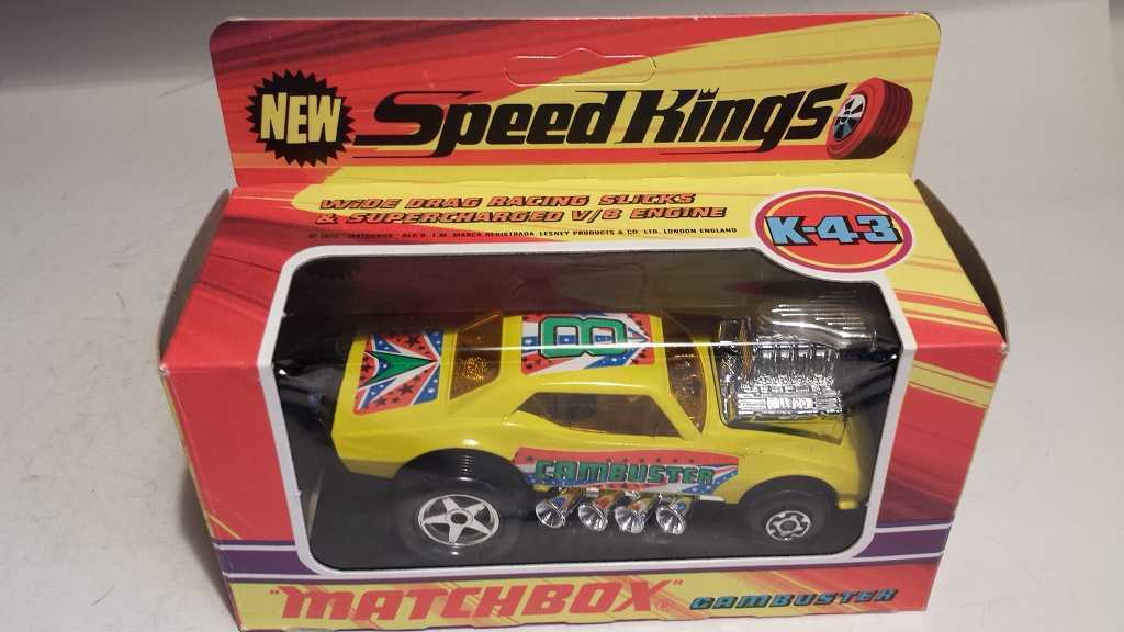Matchbox K 43 CAMBUSTER SPEEDKINGS absolument Comme neuf and Processeur en Boîte  jaune ( ) vitrage