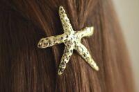 Starfish Hair Clip Mermaid Coastal Beach Wedding Accessories Silver Or Gold Tone