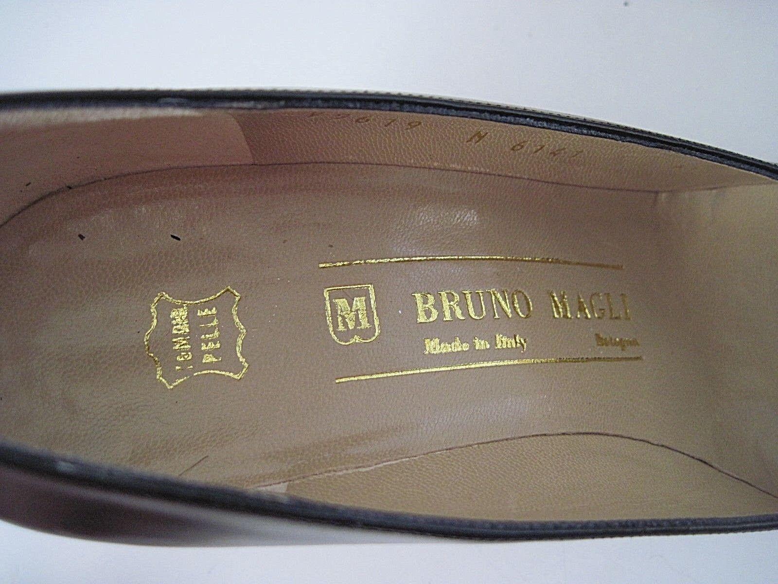Bruno Magli Charol Italia Negro De Piel, bombas, tacones Italia Charol Talla 6 1 2 AA aaeef9