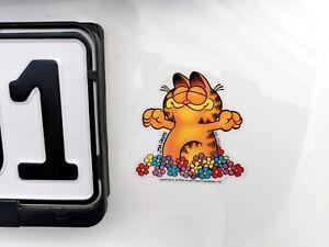 Durchsichtiger-Garfield-DER-TAG-KANN-KOMMEN-Glueck-Lucky-Sticker-Aufkleber-8-cm