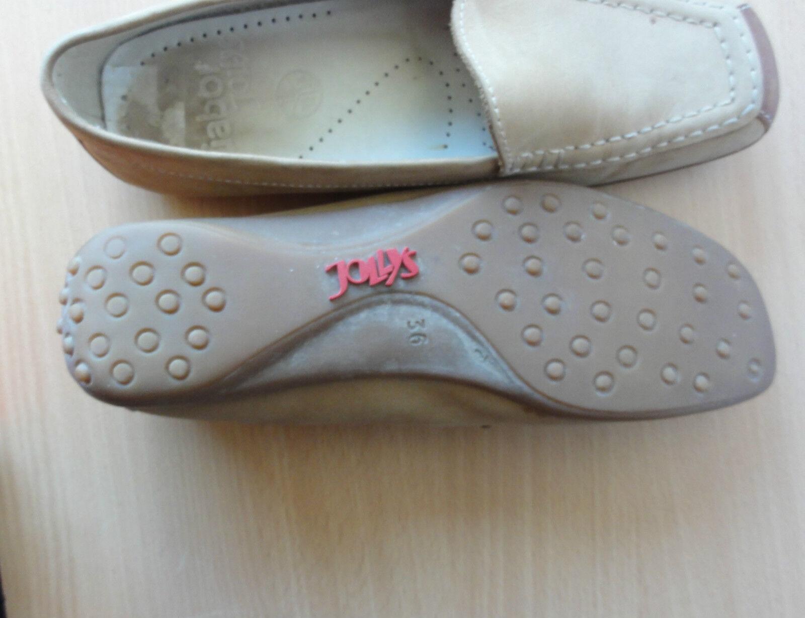 GABOR Jolly`s, Wildleder Schuhe, Ballerinas, Slipper in beige, Gr. 36