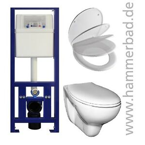 wc vorwandelement wc element 40 cm schmal wand h nge wc toilette ebay. Black Bedroom Furniture Sets. Home Design Ideas
