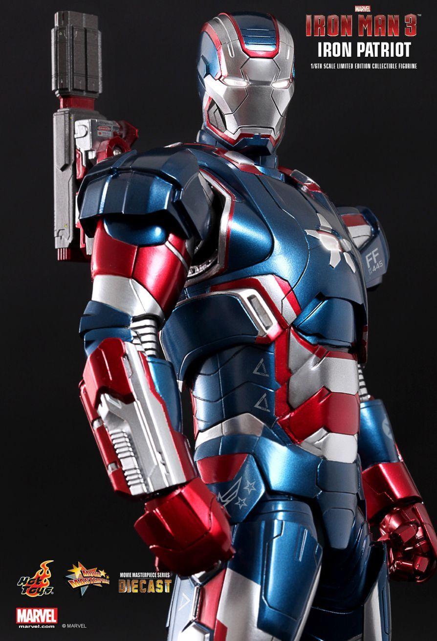 1 6 HOT TOYS MMS195D01 MARVEL IRON MAN 3 Diecast Iron Patriot Figura De Acción Nueva
