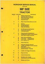MASSEY FERGUSON MF50E TRACTOR LOADER BACKHOE DIGGER MF 50E WORKSHOP MANUAL