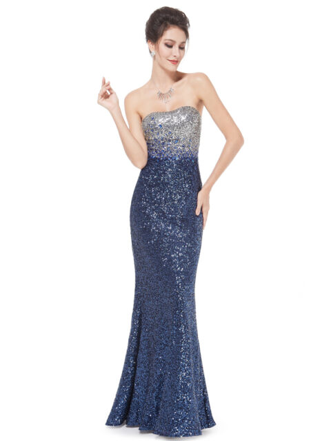 Women's Straple Long Evening Formal Party Prom Dress Gown Size 10-18 UK N86