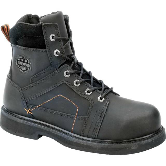 4c4fcae7ee6b7b Mens Harley Davidson Pete Motorcycle BOOTS Steel Toe Black Leather D95326 10