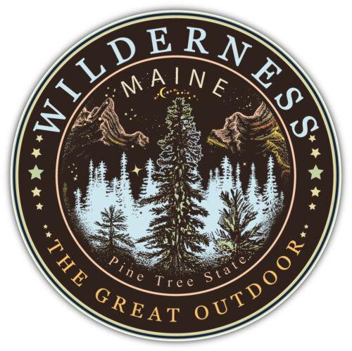 "Maine USA State Badge Car Bumper Sticker Decal  /""SIZES/"""