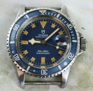 Vintage-Tudor-by-Rolex-Submariner-Snowflake-Wristwatch-Ref-9411-0-Blue-Dial