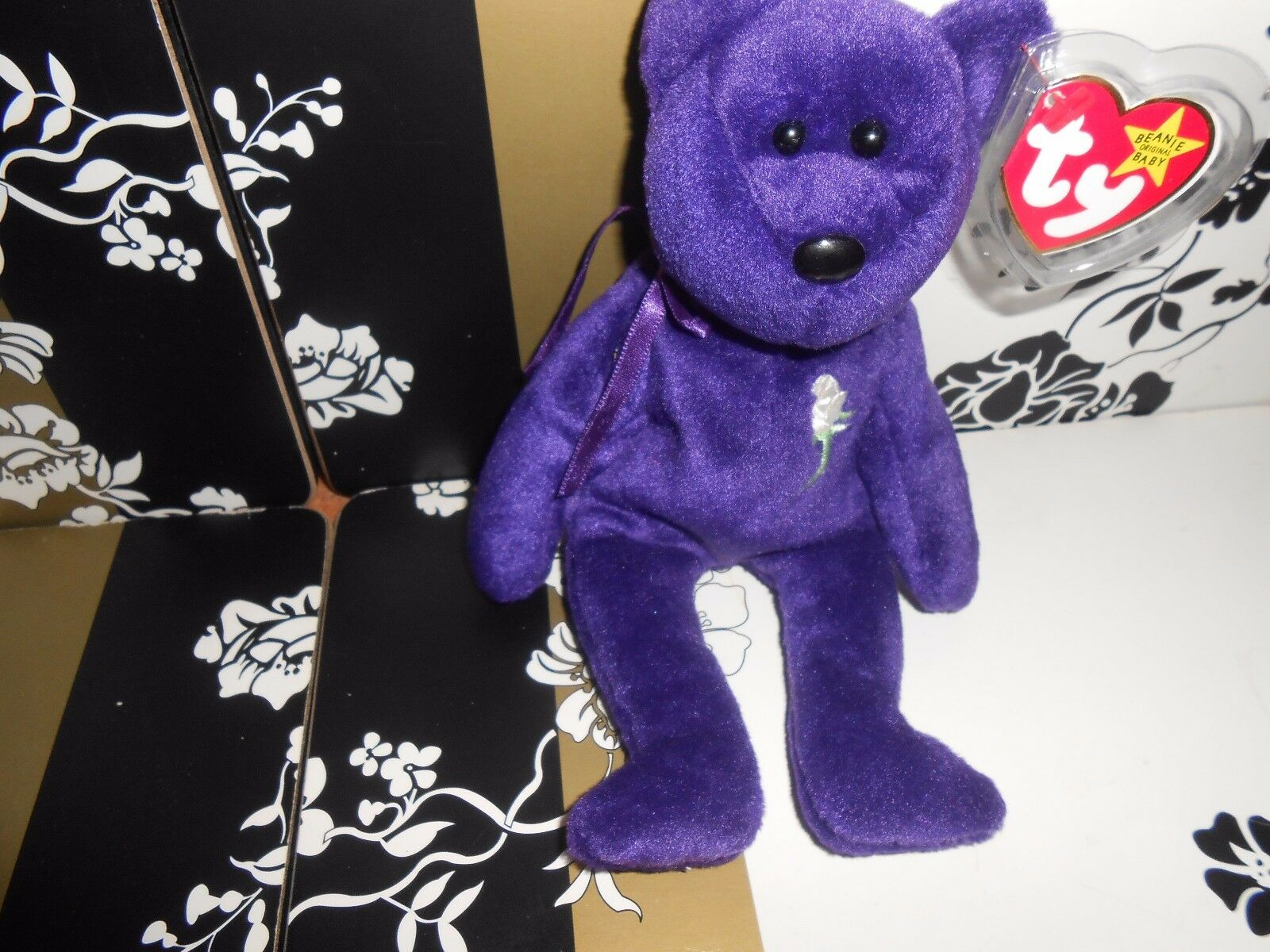 THE BEANIE BABIES COLLECTION PRINCESS  BEAR EXCELLENT CONDITION WITH TAG