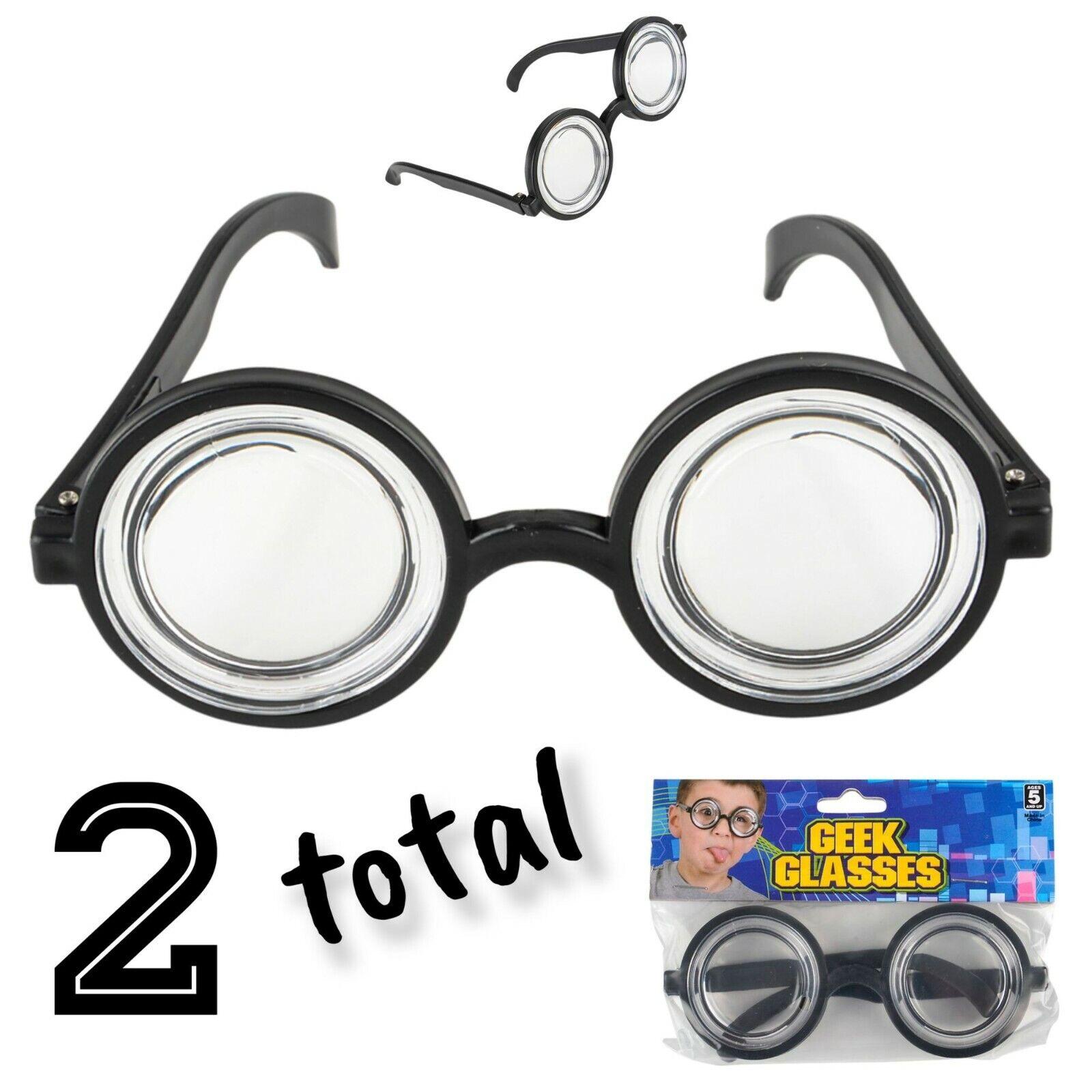 (2) Nerd Gafas Gafas Bug Eyes burbujas Redondo Especificaciones Gafas De Disfraz De Botella De Coca Cola