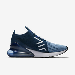 af9e97352b91 Nike Air Max 270 Flyknit Men s Shoes Work Blue White AO1023 400