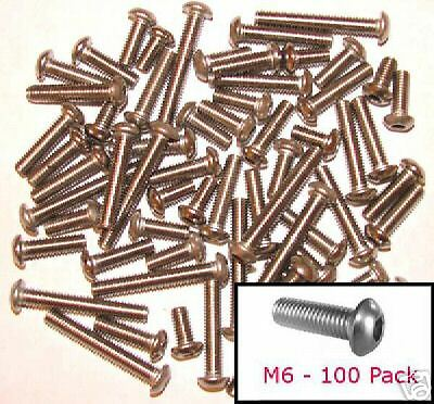 M6 Stainless Socket Button Head 6mm Mushroom//Round Head Bolts x100 mixed lengths