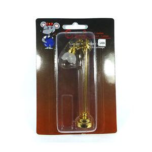 Distingué Creal 2203 Lampadaire Del Avec Batterie Gold 1:12 Pour Maison De Poupée Nouveau! #-afficher Le Titre D'origine
