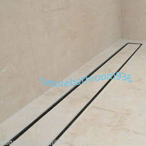 Details About 1800mm Long Stainless Steel Tile Insert Shower Grate Bath Floor Drain 80mm Waste