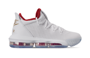 san francisco 4e46e 92c04 Image is loading NIKE-LEBRON-XVI-LOW-DRAFT-DAY-RED-GOLD-