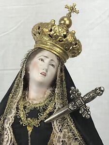 Madonna-Addolorata-Dolosa-Triste-Neapolitan-Santon-55-cm-alt-tall-Mary