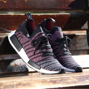 Adidas-NMD-R1-Stlt-PK-Men-039-s-NMD-R1-Primeknit-Boost-Running-Shoes-black-CQ2386