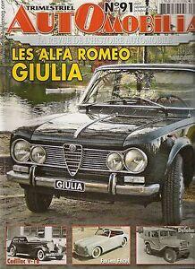 Automobilia 91 Cadillac V16 Amc Alfa Romeo Giulia Berlina Jeep Vlr Delahaye 182 CaractèRe Aromatique Et GoûT AgréAble