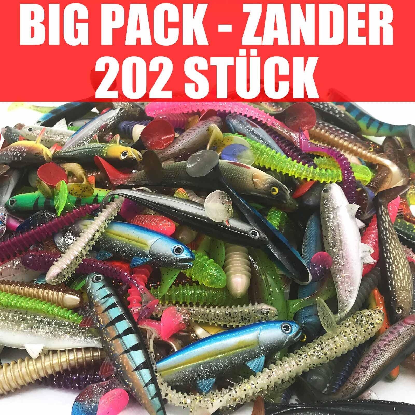 202 pezzi pesci in gomma Set Arte esca XXXLpersico pesca 1013cm  Mosca