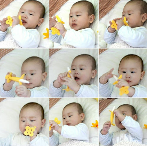 Banana Yellow Baby Teether Teething Pacifier Chew Infant Oral Tooth Brush