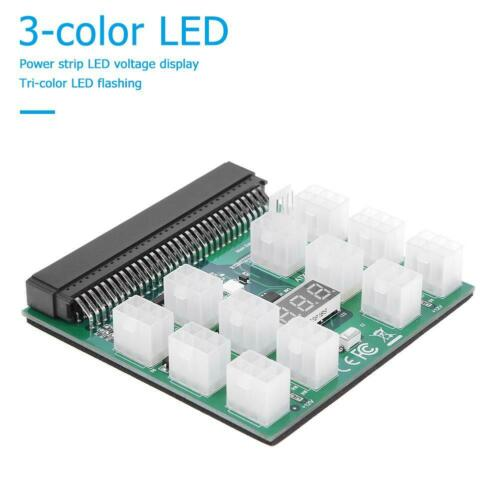 12 X 6Pin Power Supply Adapter HP Server GPU 12V Breakout Board Converter #Z