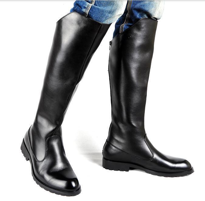 Winter Parade Stiefel britische High-Fashion-Ritter Stiefel