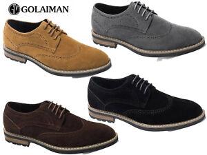 Homme-En-Daim-Chaussures-Chaussures-en-Cuir-Oxford-Chaussures-a-lacets-robe-de-mariage-Parti-golaim