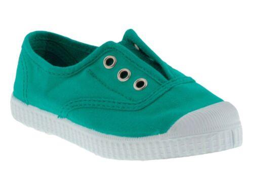 Cienta scarpe slip on bambino bambina puntale gomma estate profumate verde