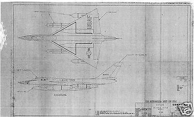 CONVAIR B-58 HUSTLER BLUEPRINT DRAWING PLANS ARCHIVE VERY RARE 1950's