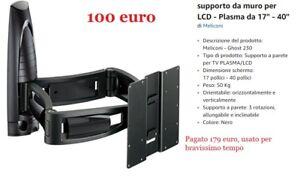 Meliconi Porta Tv Ghost Prezzi.Dettagli Su Supporto Meliconi Modello Ghost 230 Per Tv Lcd Plasma 17 40 Pollici