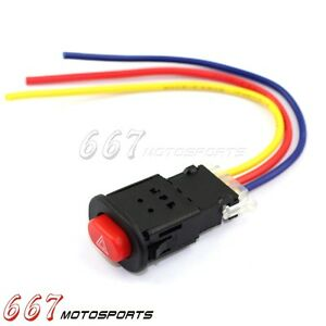 Details about Motorcycle Scooter Accident Hazard Light Switch ON/OFF on