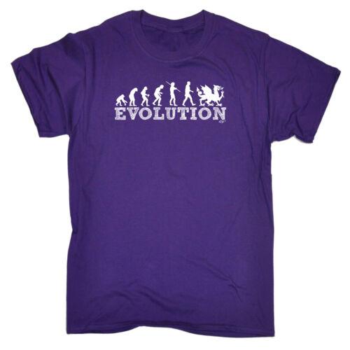 Divertenti Novità T-Shirt UOMO Tee T-Shirt-EVO Gallese