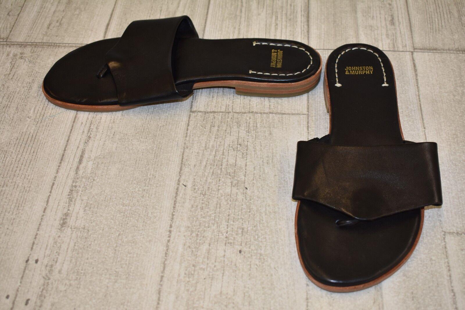 Johnston and Murphy Raney Flip Flops-Women's size 8.5 M Black