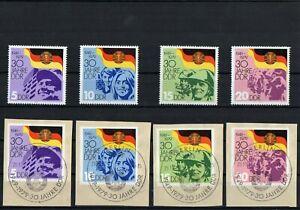 DDR-1979-Briefmarken-Satz-30-Jahre-DDR-Postfrisch-Gestempelt