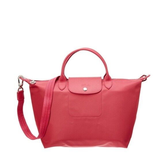 fc4f7f59d9c Longchamp Le Pliage Neo Medium Pink Crossbody Tote Bag Receipt for sale  online
